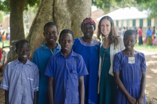 Acero Joyce, 31, Ogoloi B Village. Pictured with four of her seven children: Odongo Solomon, 12. Opio Joshua, 11. Acen Martha, 11. Okello Isaac, 7.