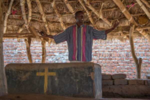 Pastor Moses, translator, incredible man of God who shepherds many of these mamas and children
