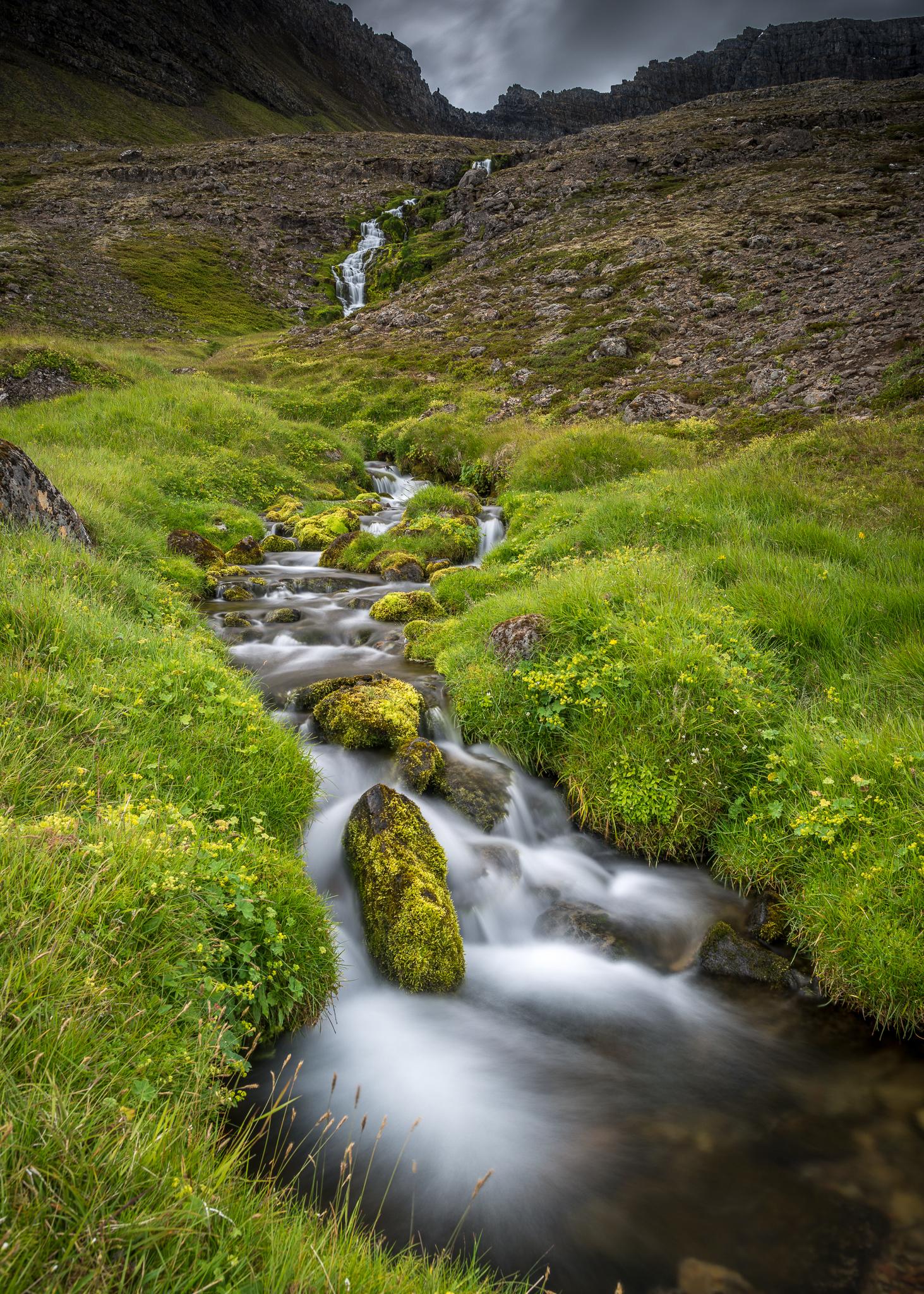 Waterfall in Arnarfjörður