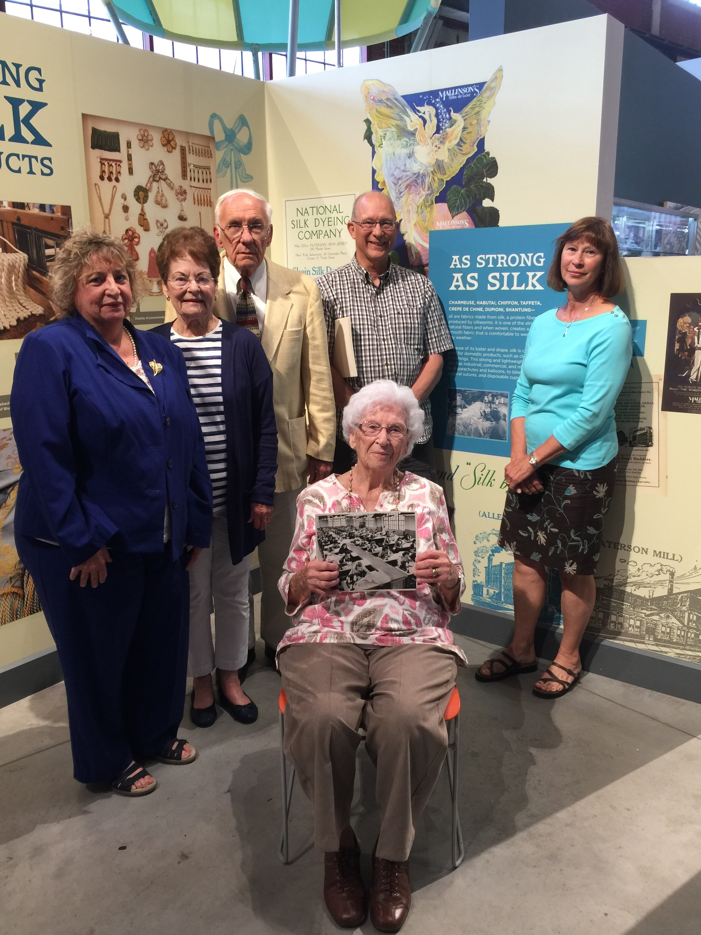 L-R Margorie Mainhart, Mrs. David Jones, David Jones, Norman King Jr., Judy King Molder with Marge Tarola (seated)