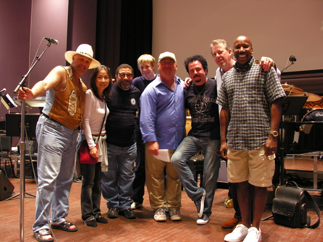 """""""George Lucas All Stars"""" Narada Michael Walden, Chie & Lenny Castro, jb, David Paich, Steve Lukather, Boz Scaggs, Nathan East 2005 Lucasfilm Ranch, Marin County CA"""
