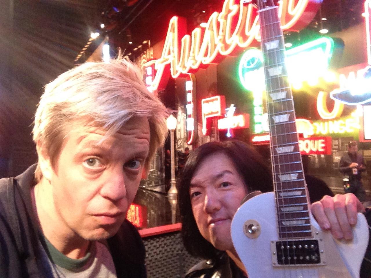 "w/ Toshi Yanagi, ""Jimmy Kimmel Live"" in Austin TX 2014"