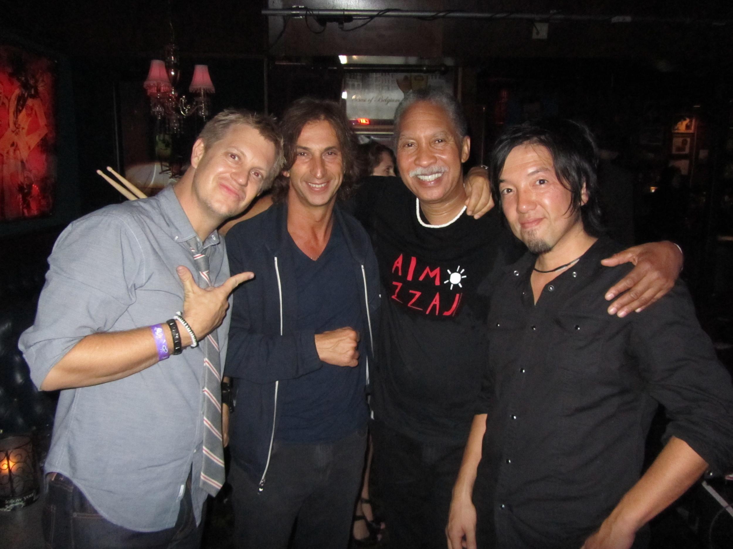 after a Zig gig @ The Mint, LA w/ Toss Panos, Zigaboo Modeliste, & Toshi Yanagi 2012