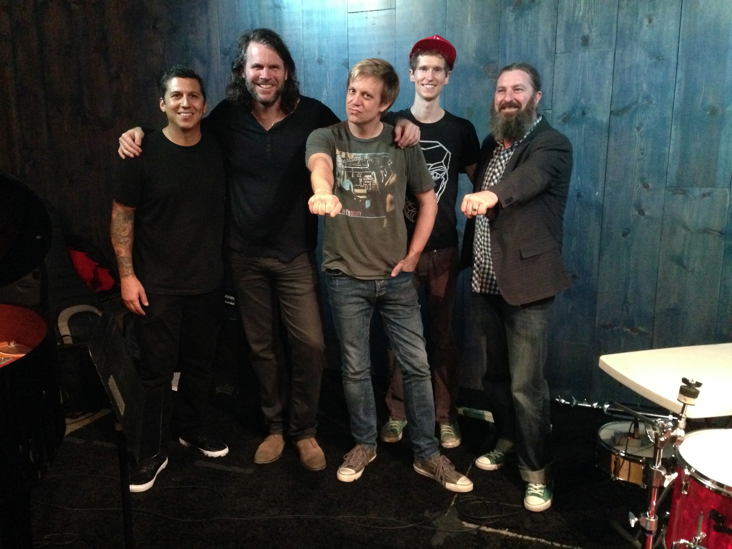 after Jeff Babko & The Meat Dept. gig @ Blue Whale, 2014 w/ Mike Elizondo, Tim Lefebvre, Louis Cole & Tim Young