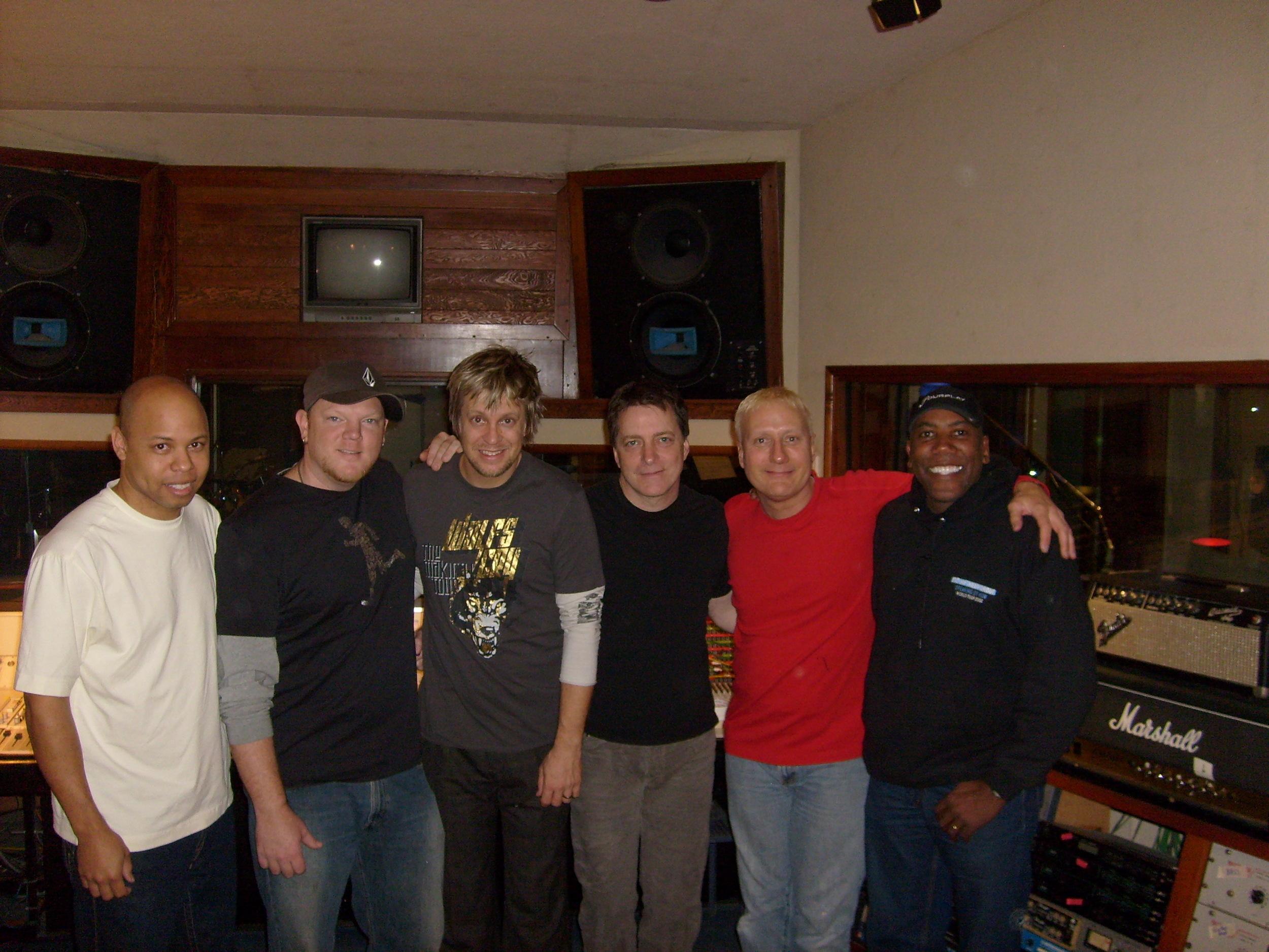 recording Generosity Water Project Dec., 2008 w/ Chris James, Dan Lutz, James Harrah, Gregg Bissonette & Nathan East