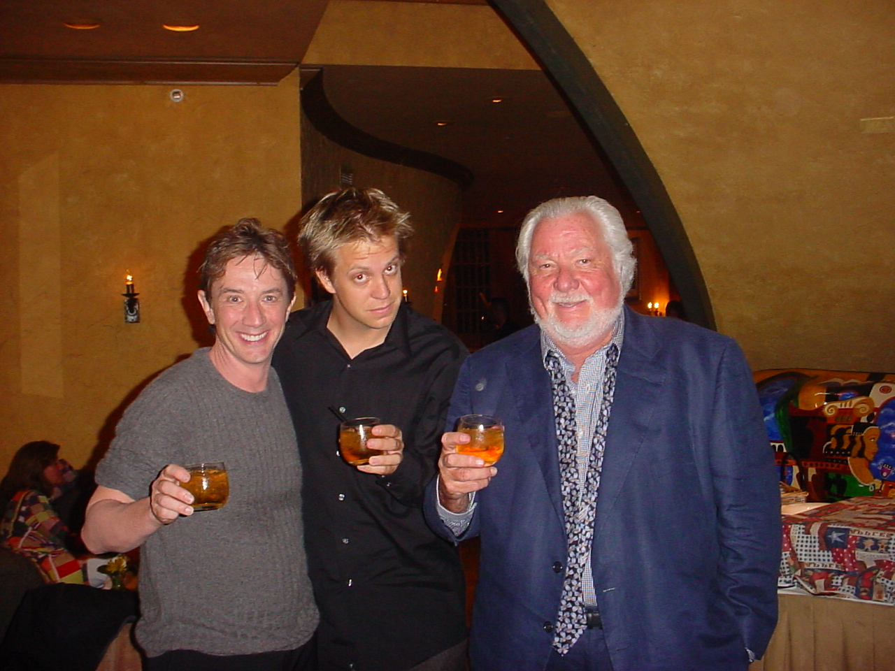 w/ Martin Short & legendary manager Bernie Brillstein after first touring live performace w/ Martin Short, Naperville, Illinois 2001