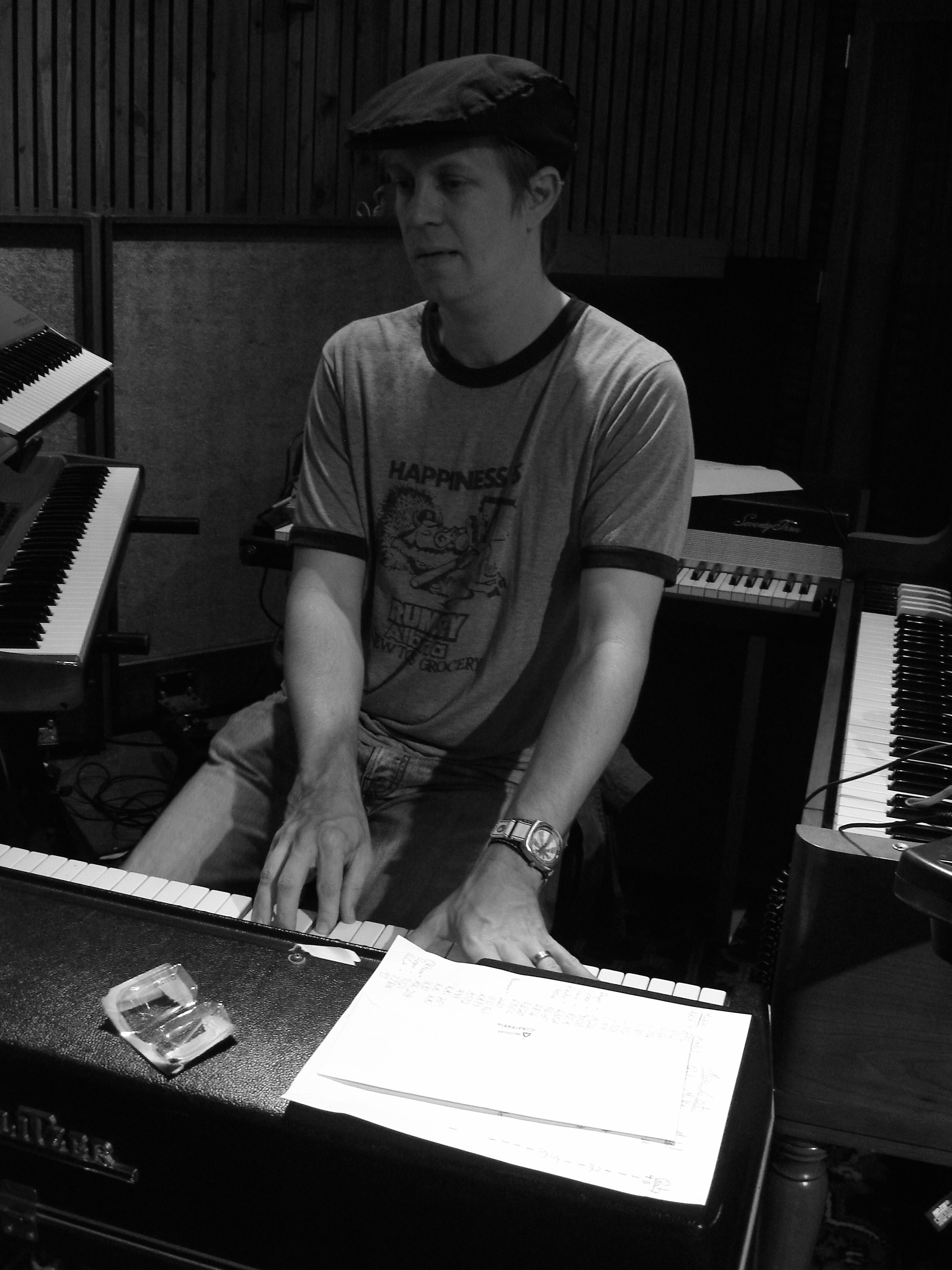 recording Mondo Trio, Sage & Sound studio, Hollywood, CA