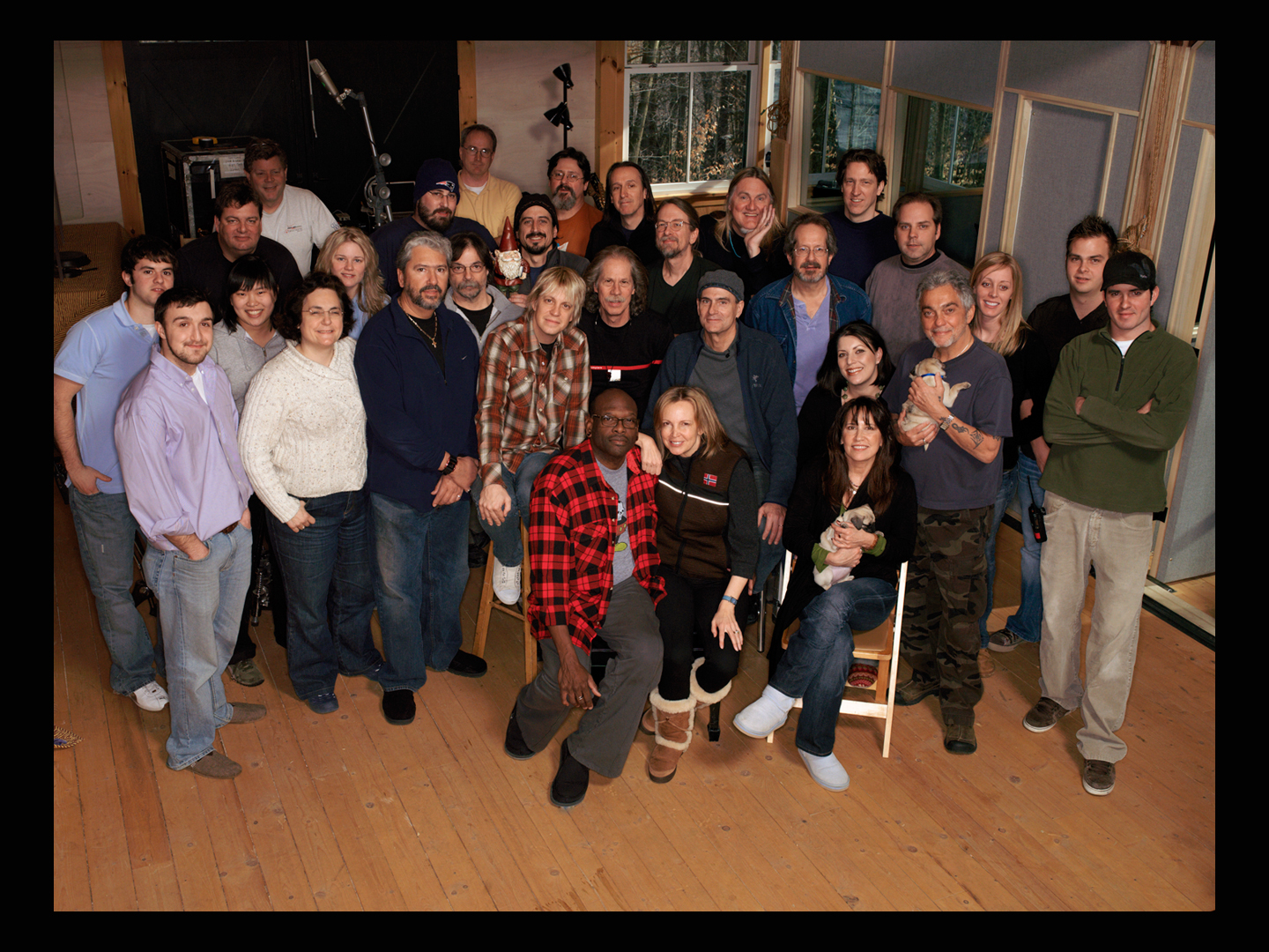 """the whole James Taylor camp during the making of """"Covers"""", 2008, """"The Barn"""" Lenox, Mass"""