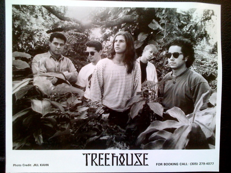 "w/ Miami band ""Treehouse"", promo shot for ""Listen To Reason"" CD, 1994 (w/ Carl Roa, Dan Pinder, Sam Jaffe & Scott Garapolo"
