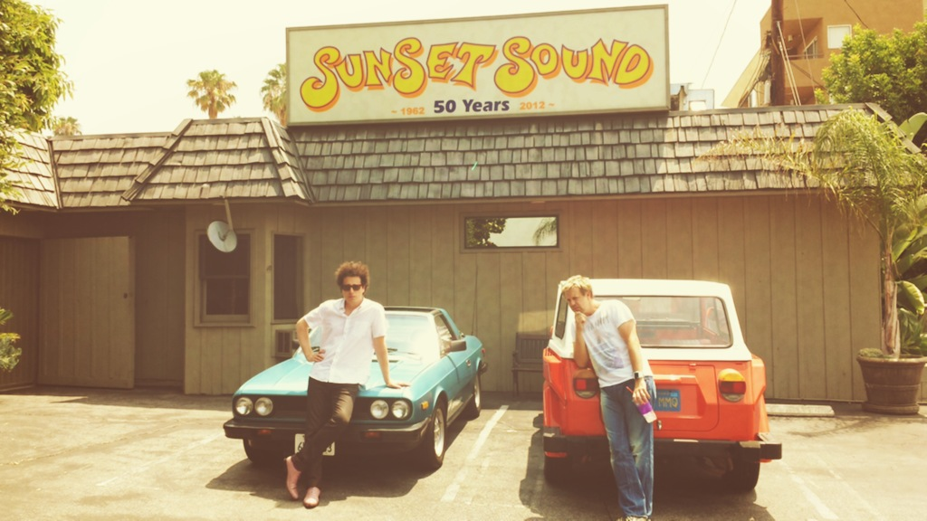 w/ Justin Meldal Johnsen in front of Sunset Sound w/ Lancia & Thing.