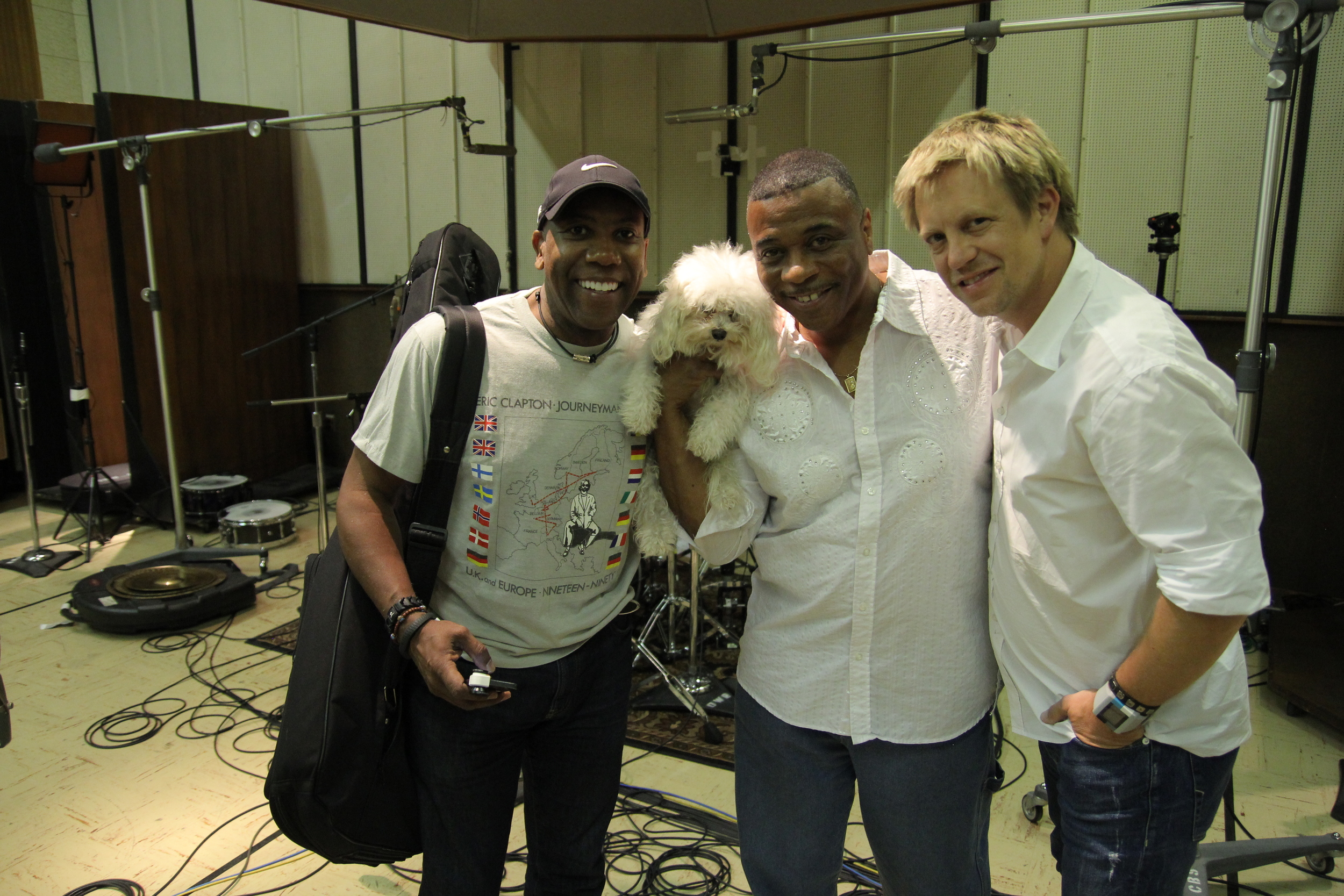 w/ Nathan East & the late Ricky Lawson @ Ocean Way 2013