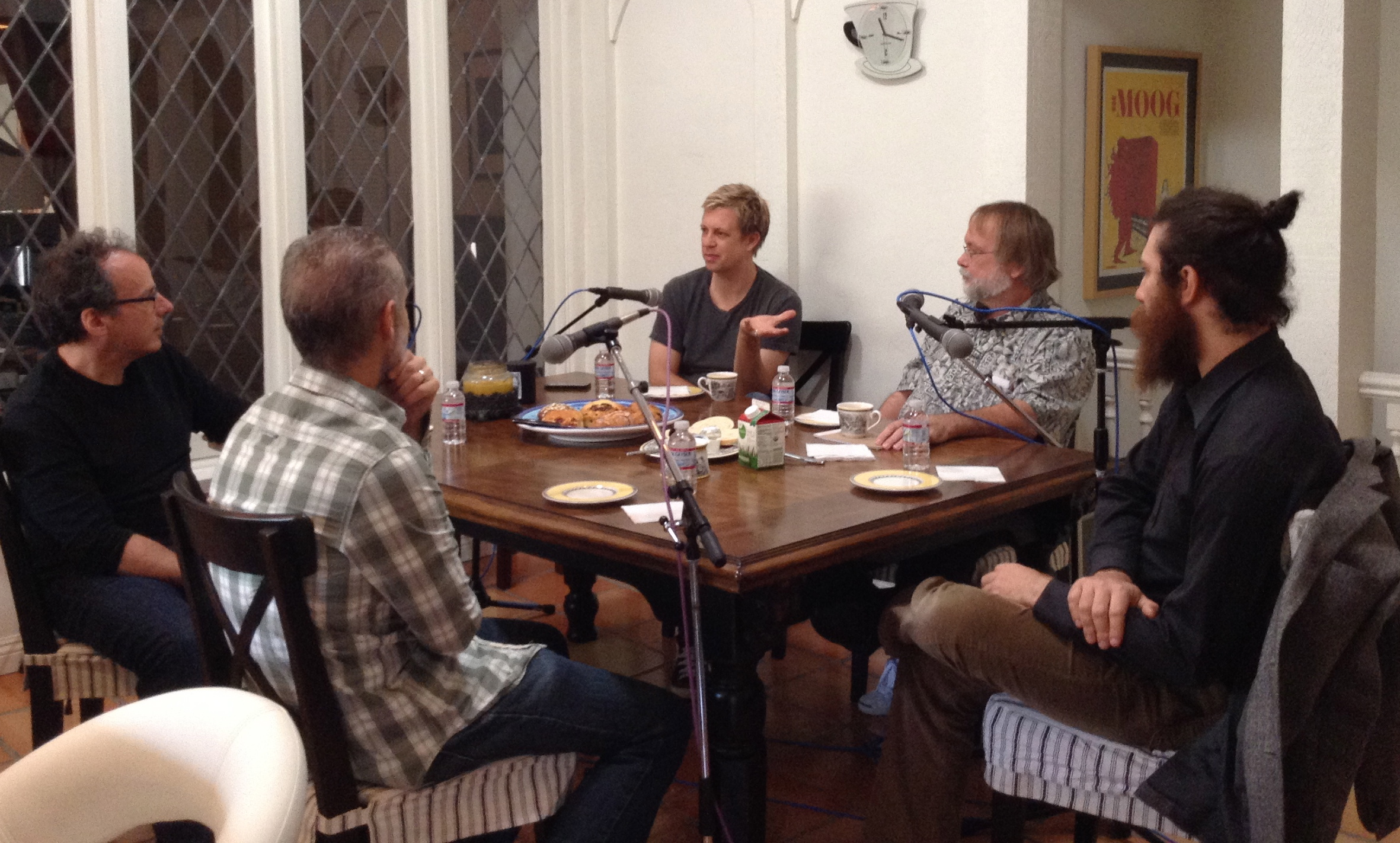 """ ""Caffeinated Keyboardist"" episode 4 recording w/ Mitchell Froom, Patrick Warren, Jim Cox & Zac Rae"