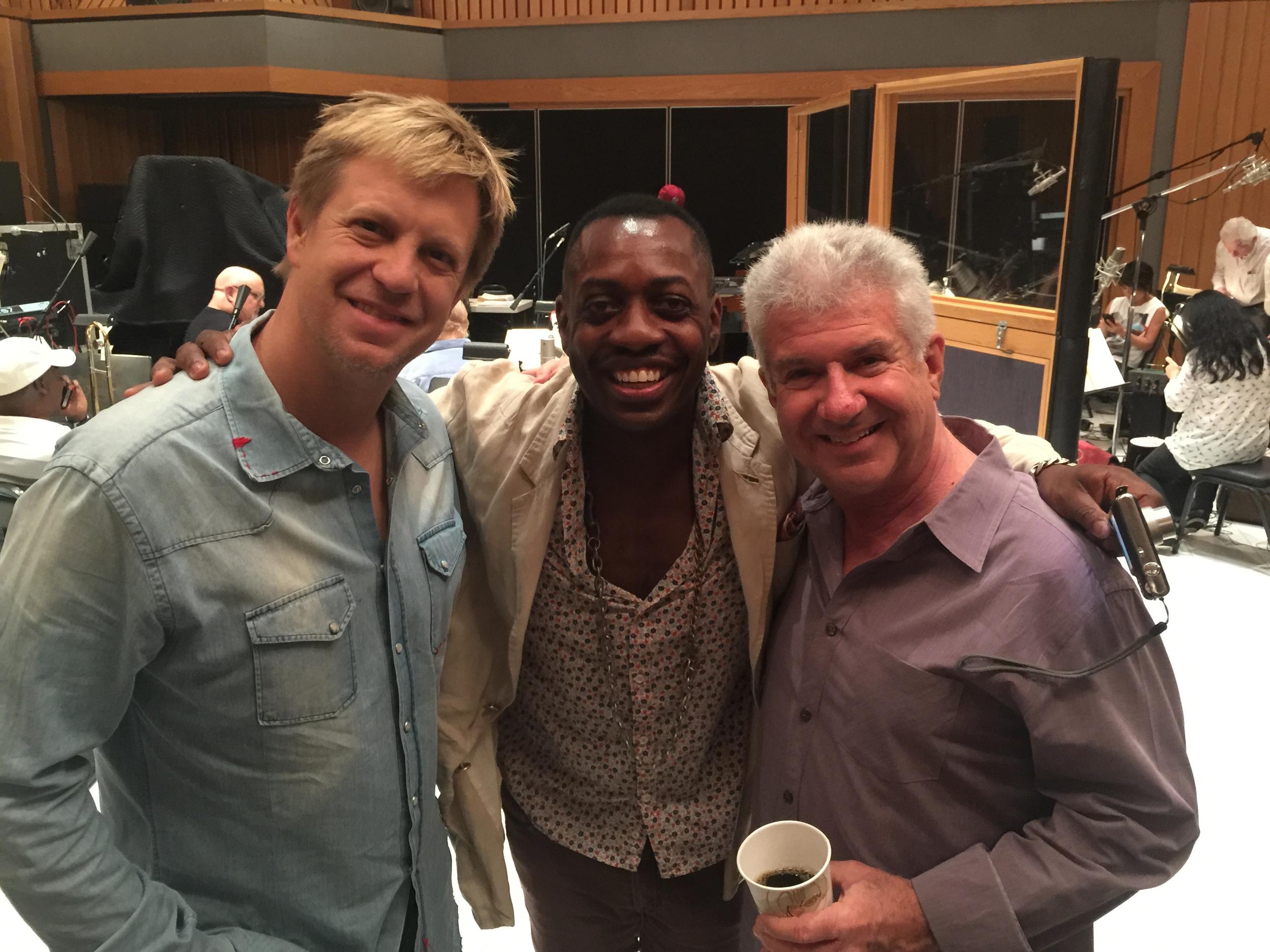 2015 Emmy pre-records at Capitol Studios, Hollywood w/ Steve Jordan & Tom Ranier