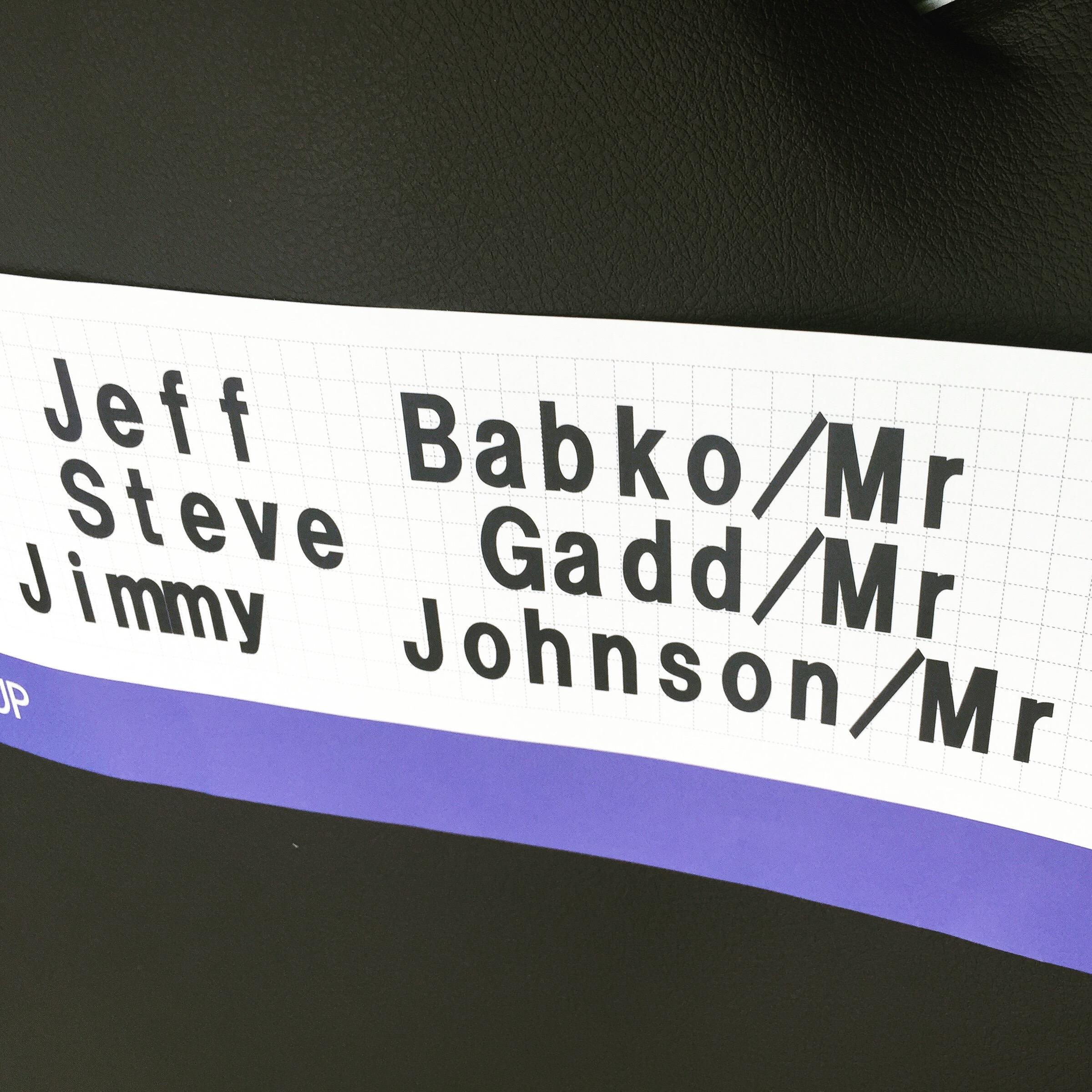 ah, but first billing here! dream trio. Babko/Gadd/Johnson (as if)- James Taylor trip to Japan for Seiji Ozawa's 80th.