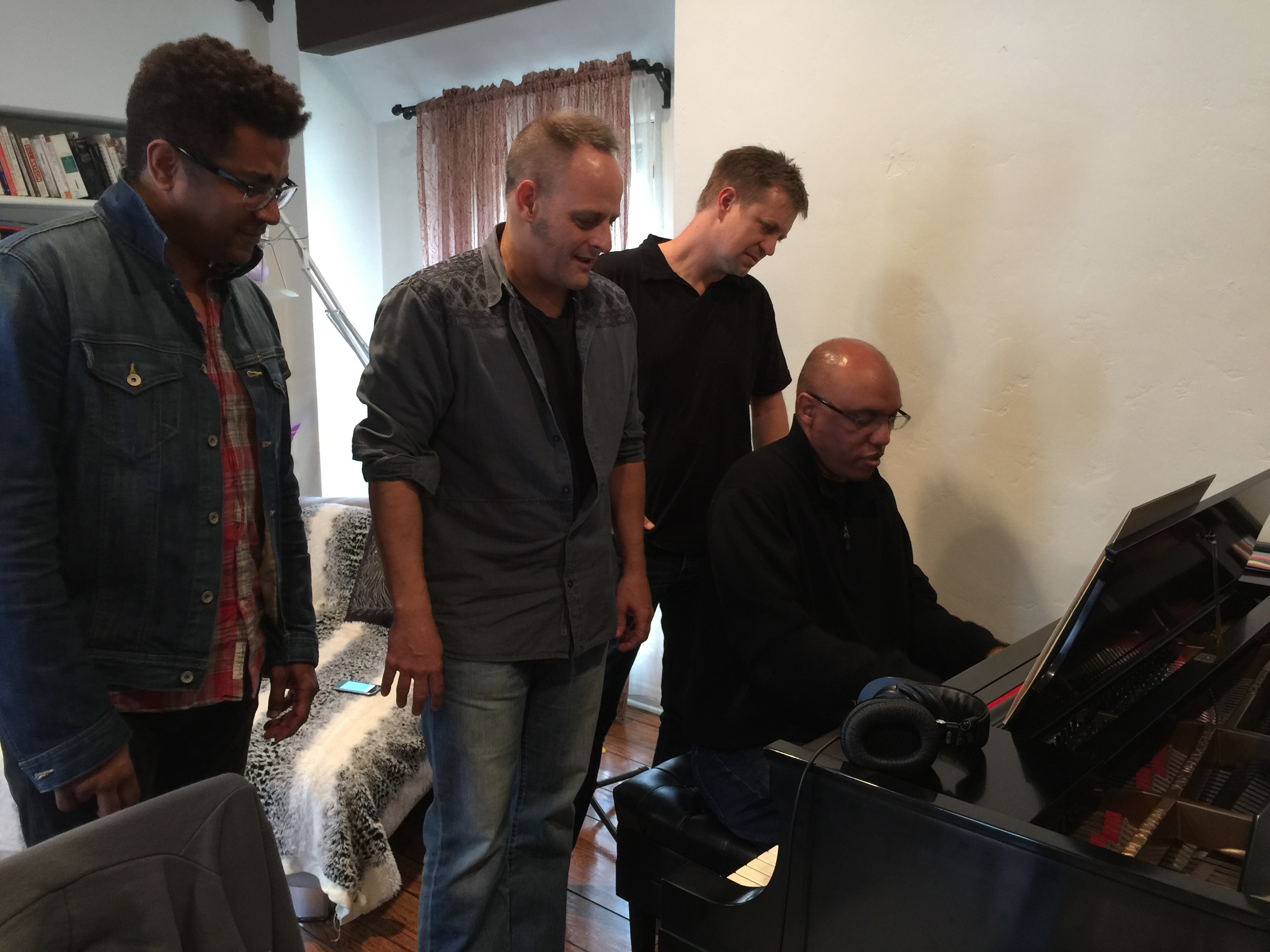 Caffeinated Keyboardist podcast recording w/ Deron Johnson, Scott Healy & Billy Childs