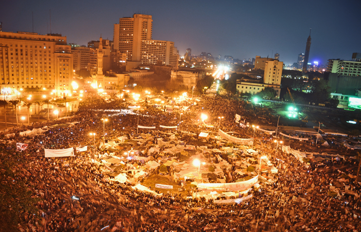 Demonstrations on Tahrir Square, Egypt.  Picture by   Jonathan Rashad   -   CC BY-NC 2.0