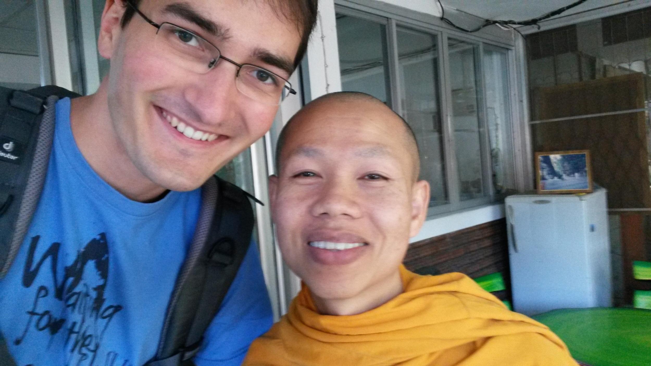 Selfie mit meinem Lehrer-Mönch