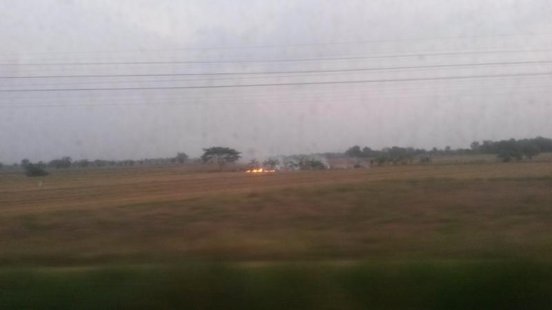 Brennende Felder