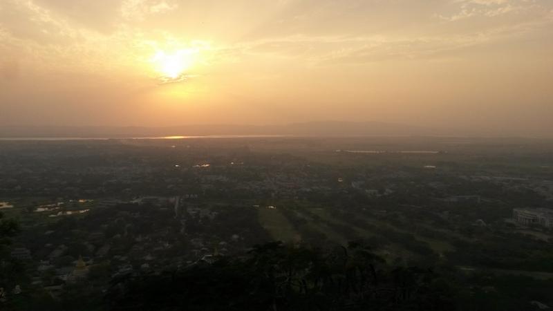 Ausblick vom Mandalay Hill über die Stadt