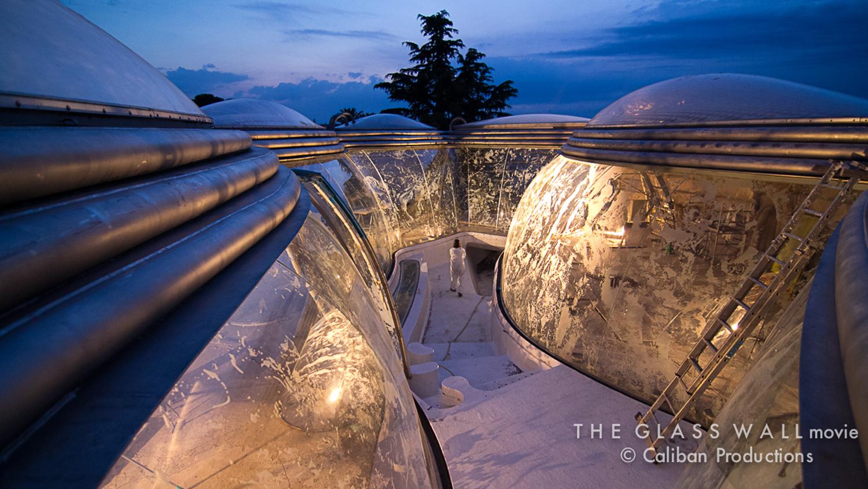 "2005-2012 ""Villa Nurbs"" Sandblasted Curved Glass   in collaboration with Architect, Enric Ruiz-Geli"
