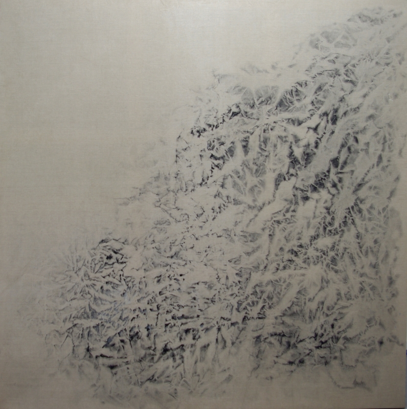 """""""Earth"""" Series #1310-2014 Oil, pigment, alkyd, wax on canvas Dimension: 78""""x78"""""""