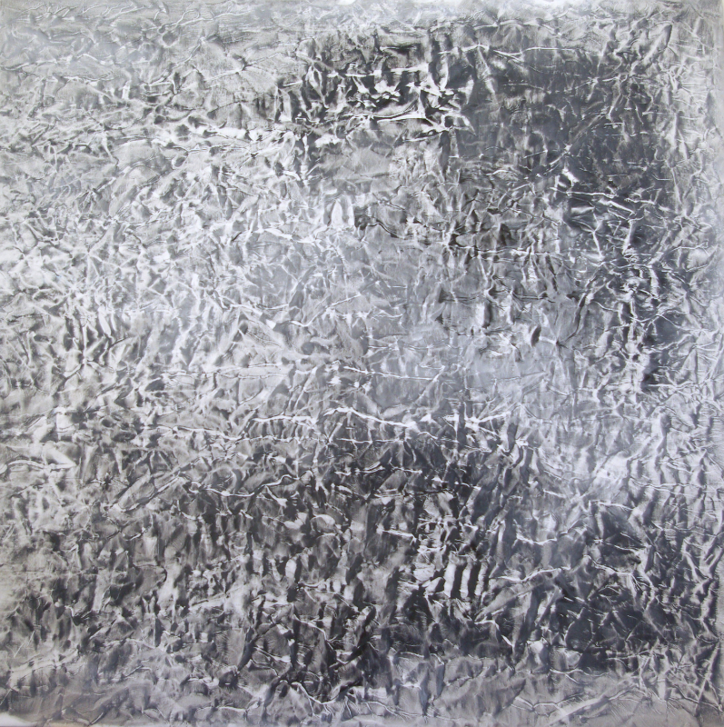 #1262 Oil on canvas 2007-2011 Dimension 50 x 50 inches