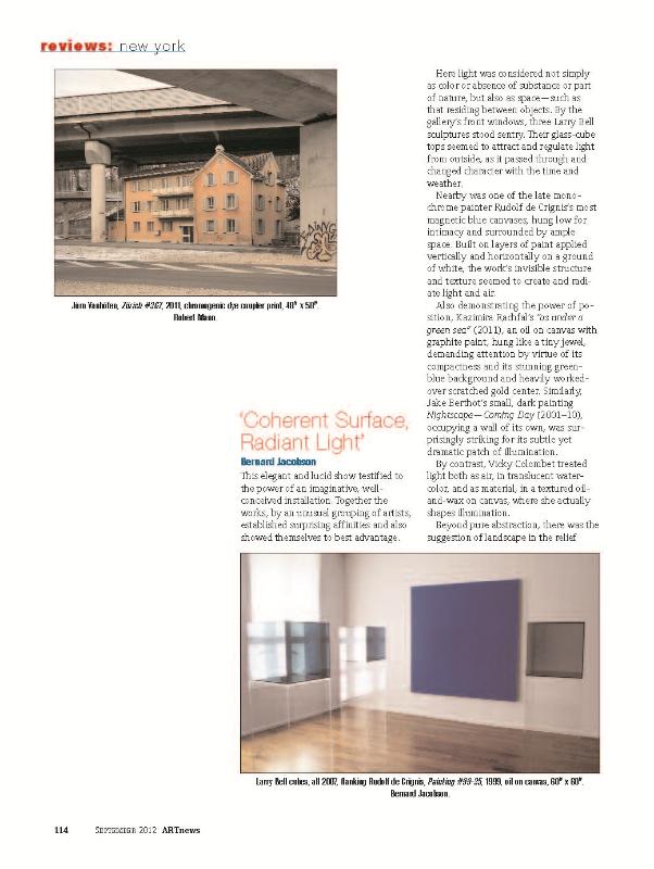 ARTnews , September 2012
