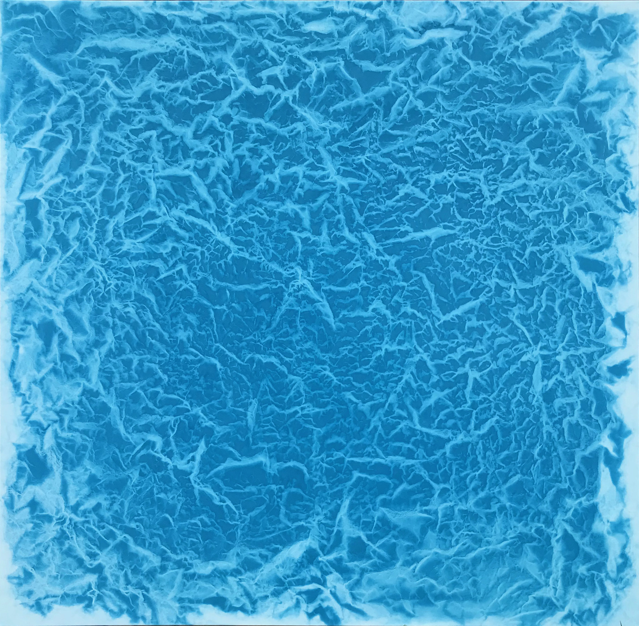 "2018 Water and Light Series #1401 Pigment, oil, alkyd on canvas (Cobalt Blue Green) 62"" x 64"" 157.48 x 162.56 cm © Vicky Colombet, all rights reserved."