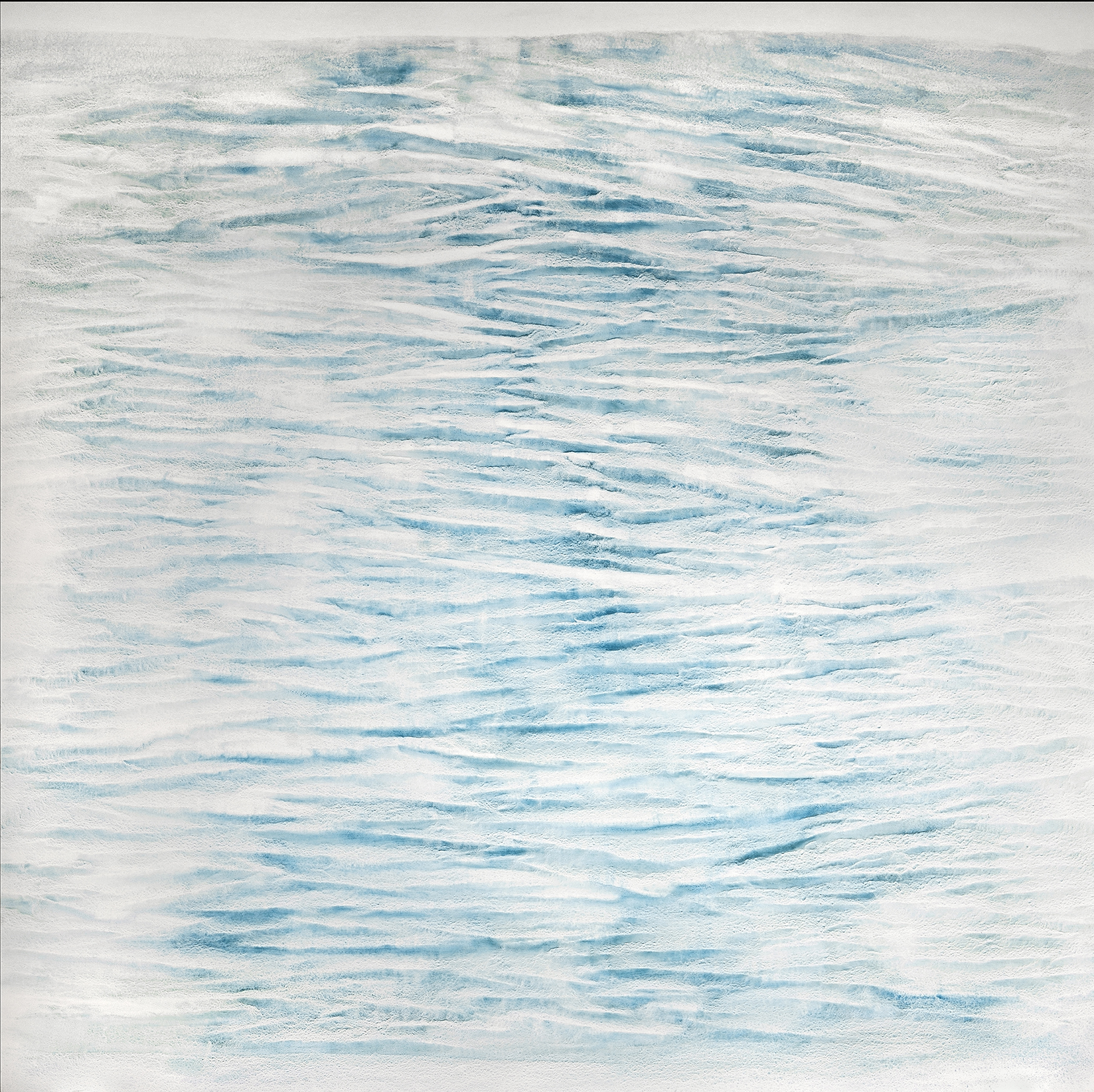 2016 North Sea #1343 pigment, oil, alkyd on canvas (Cerulean Blue) 66 x 66 inches 167.64 x 167.64 cm © Vicky Colombet, all rights reserved.