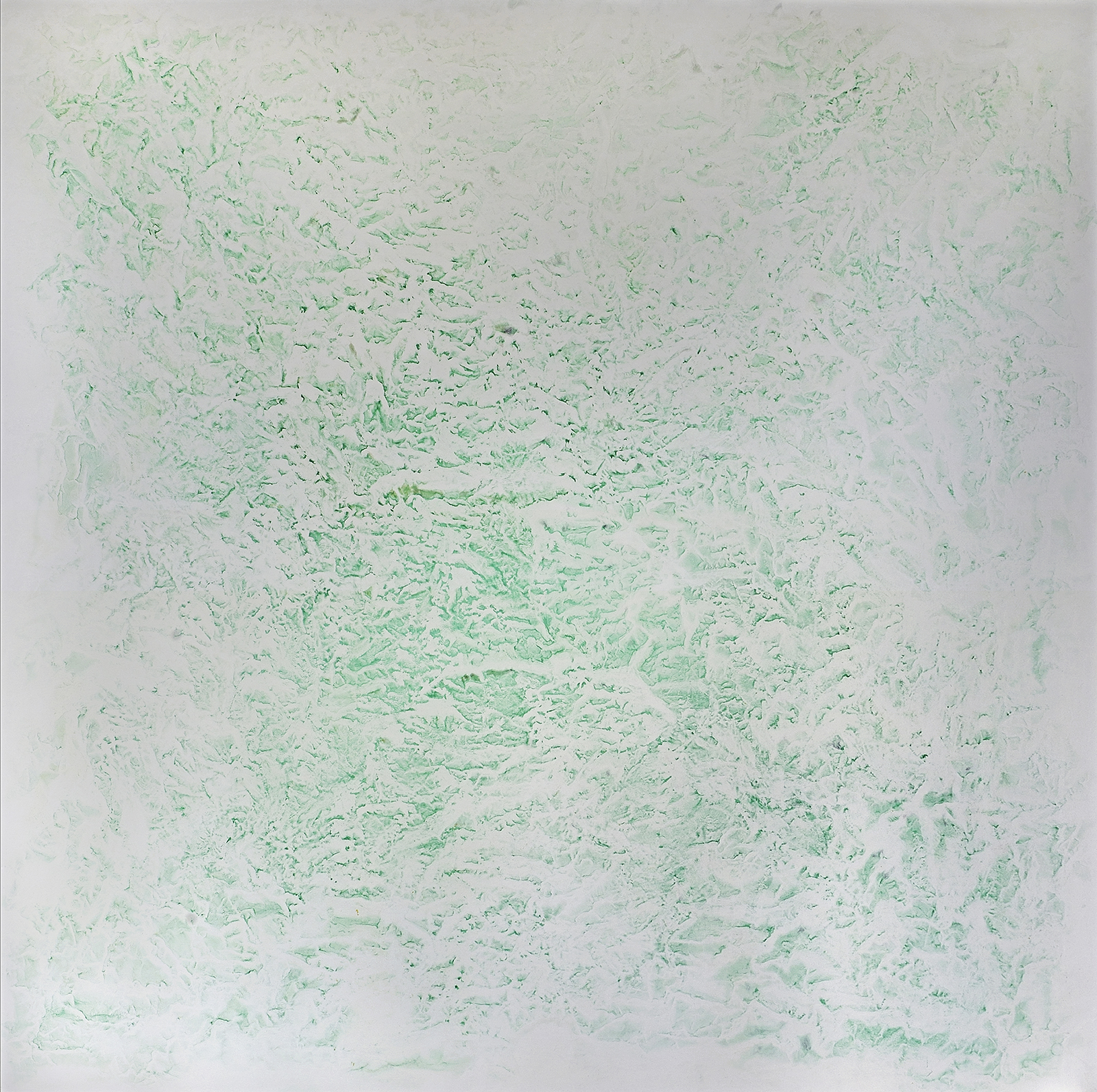 2017 Walking by the Yangtse #1357 pigment, oil, alkyd on canvas (Malachite) 78 x 78 inches 198.12 x 198.12 cm © Vicky Colombet, all rights reserved.