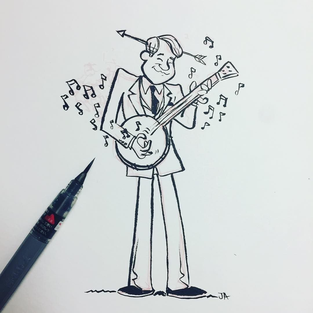 And here's a little doodle of the banjo-playin' @stevemartintogo for #inktober. #stevemartin #comedy #standup #comedians #banjo #doodle #drawing #inktober2017 #artistsoninstagram #wildandcrazy.jpg