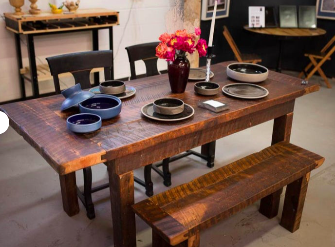 Reclaimed Rustic 6 Foot Dining Table