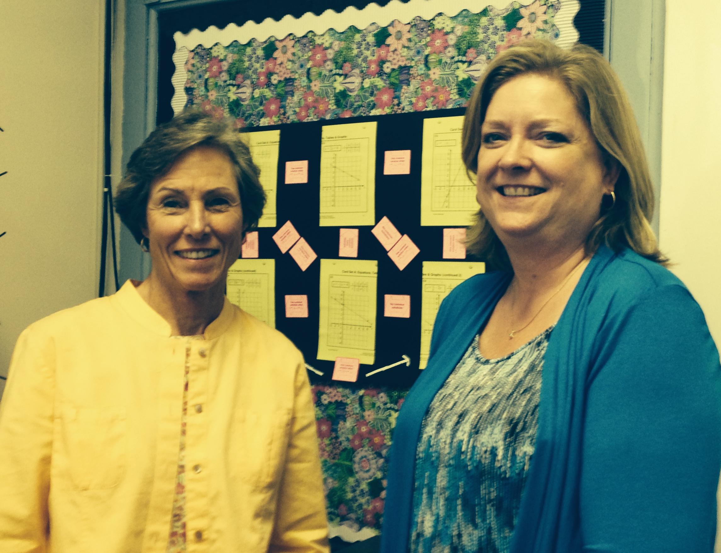 Brenda Hodgin and Gin Sellers, Math Consultants, CSRA RESA
