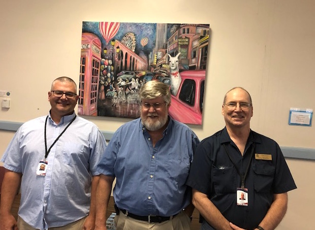 From Left: Zach Tavares, Technical Services Coordinator; Lester Taylor and John Scherer , Technicians