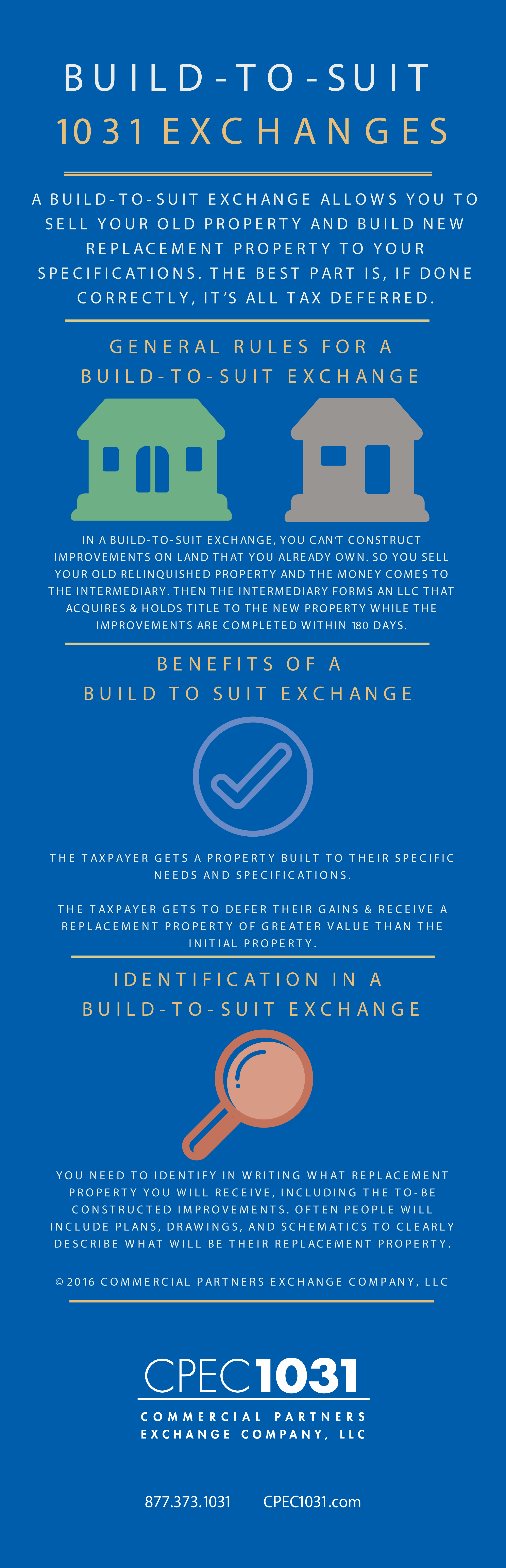 build-to-suit exchange infographic