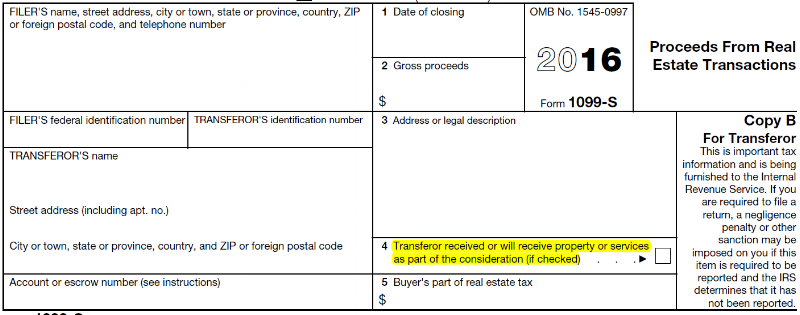 Form 1099 for a 1031 Exchange