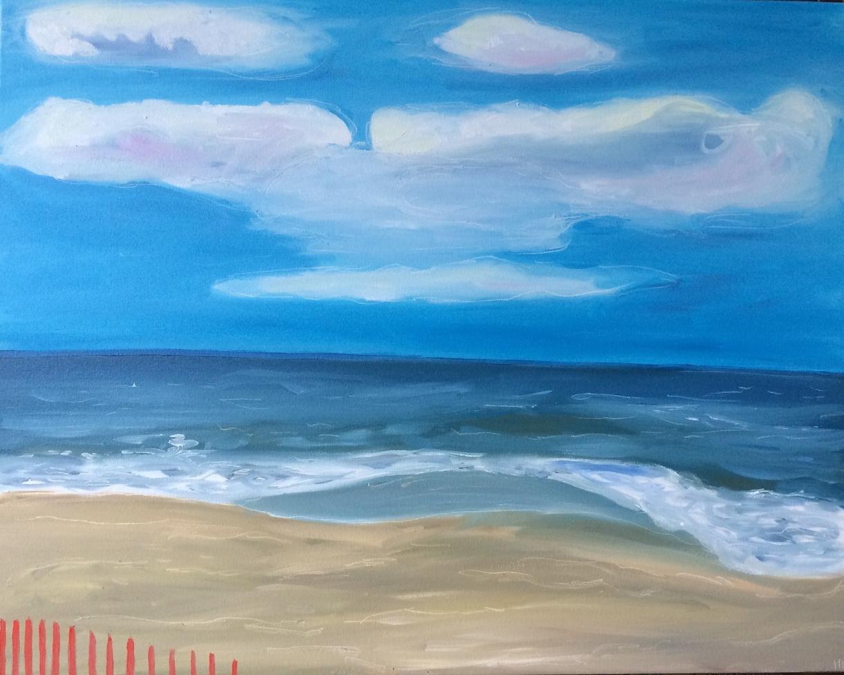 """""""Dewey Beach"""" 20 x 30"""" oil on canvas"""