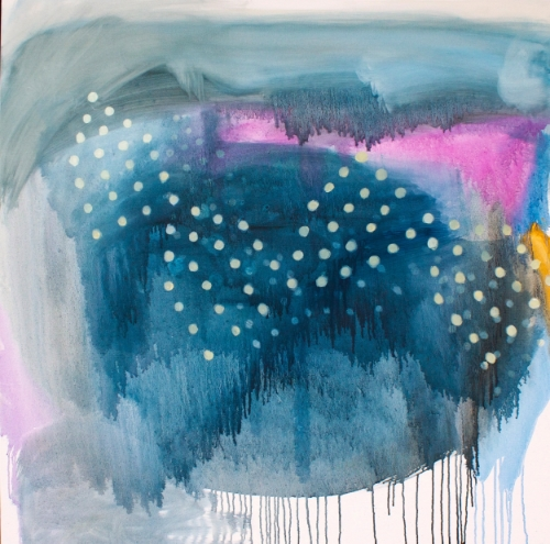 """Transition series """"Celestial"""" 36x36"""" oil on canvas"""