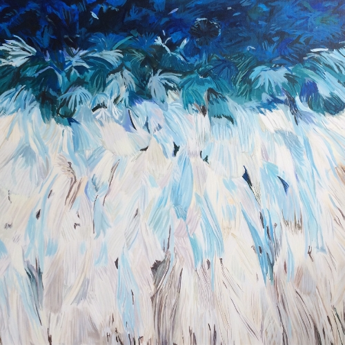 "Woven series ""Juju"" 36x36"" acrylic on canvas"