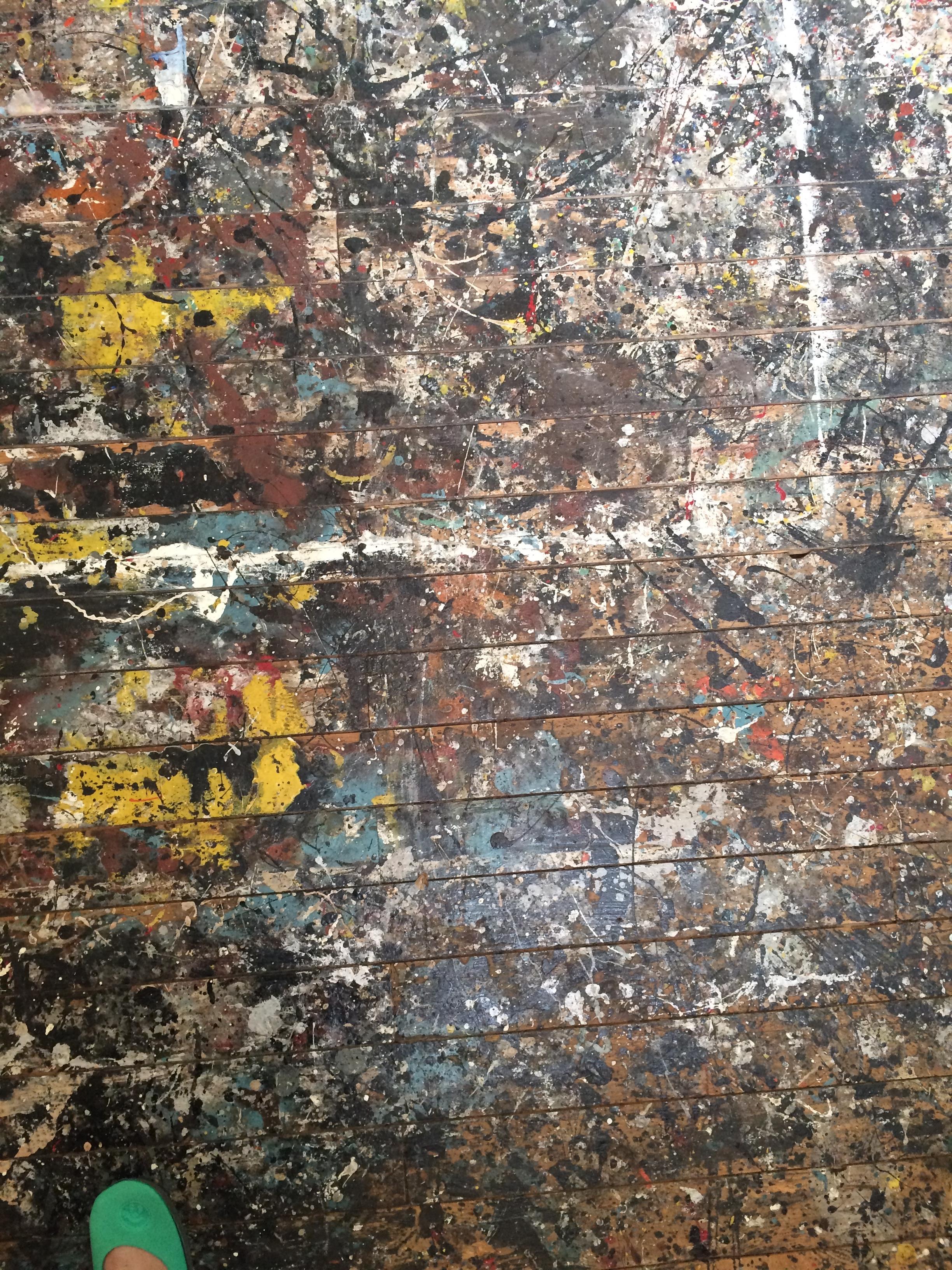 Pollocks studio floor