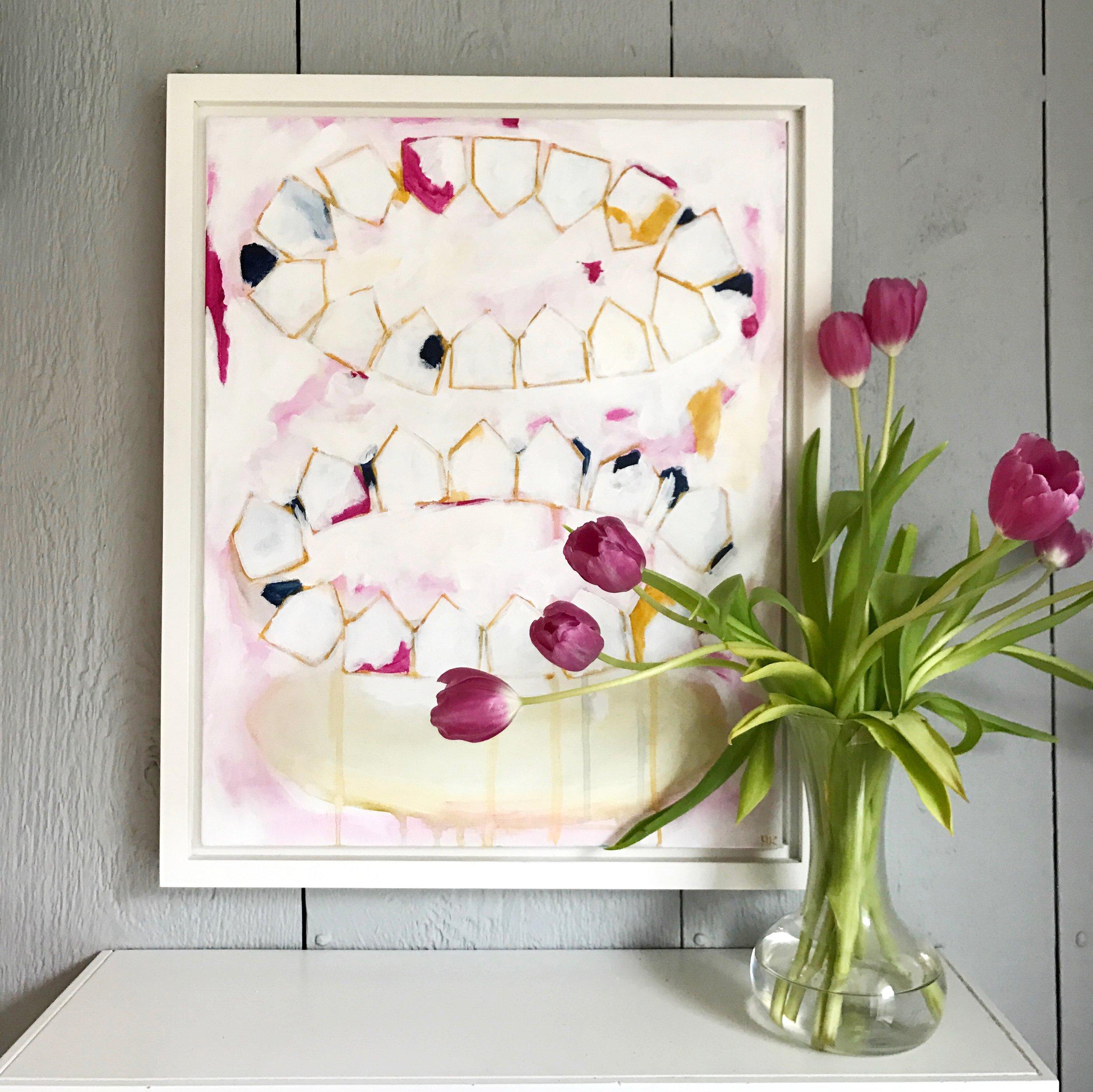 """""""WE GO ROUND"""" 16x20"""" acrylic on canvas, framed"""