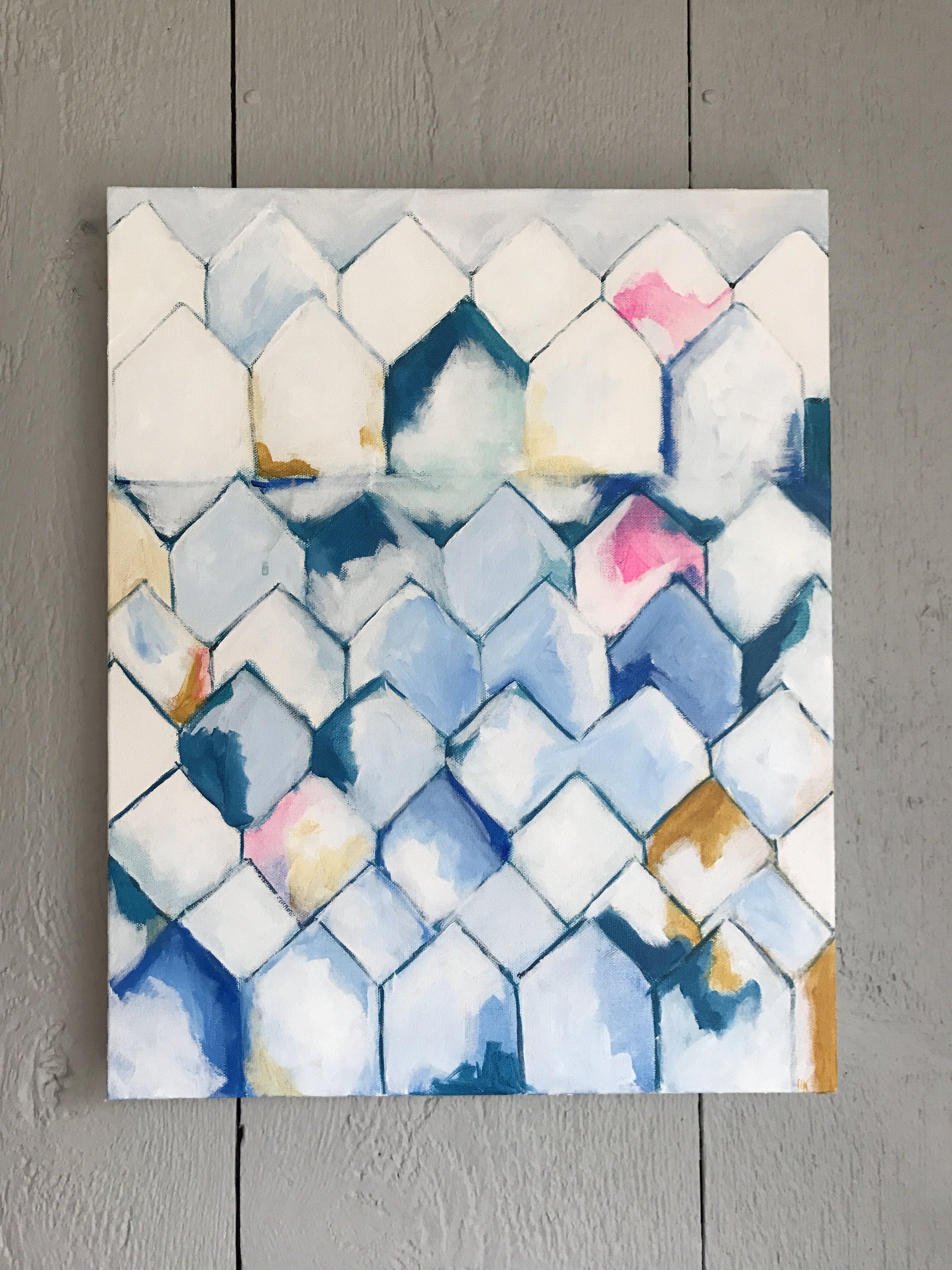 """GATHER 16x20"""" acyrlic on canvas"""