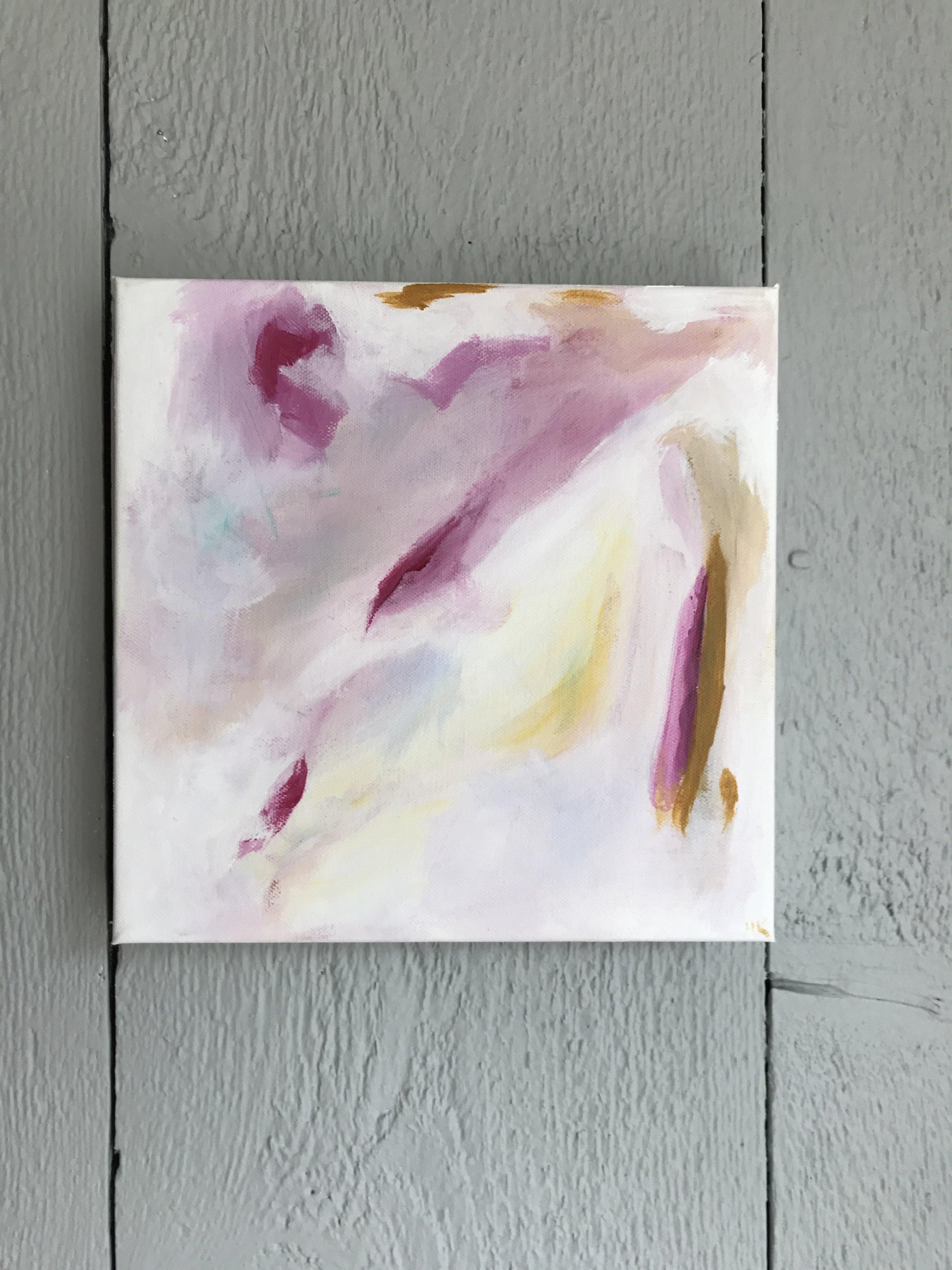 "PEONY 3 12x12"" acrylic on canvas"