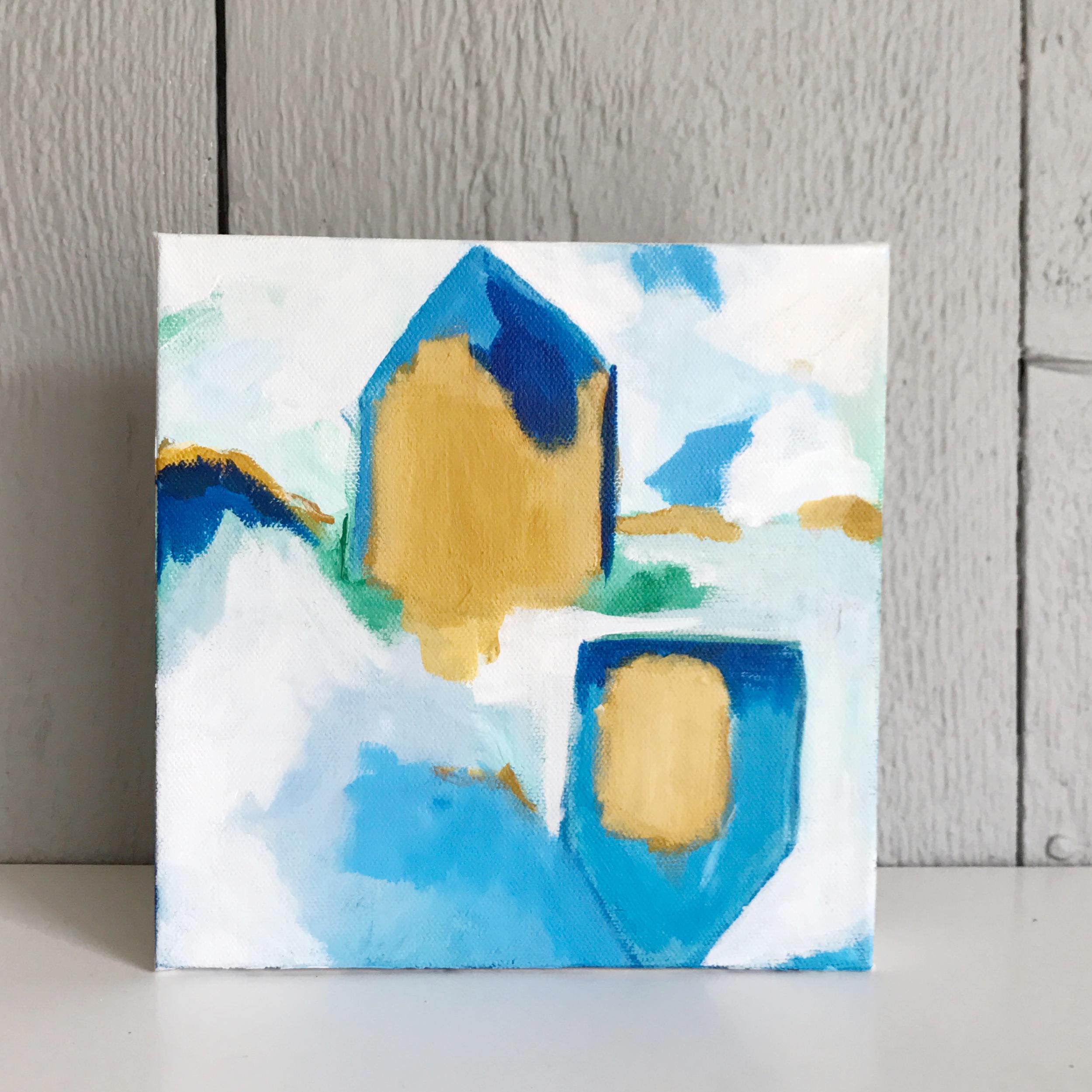 "DAY DREAM 8x8"" acrylic on canvas"