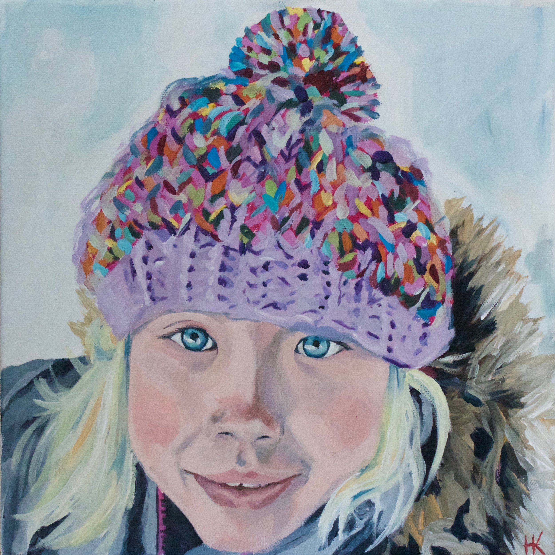 """Violet"" 12x12"" acrylic on canvas"