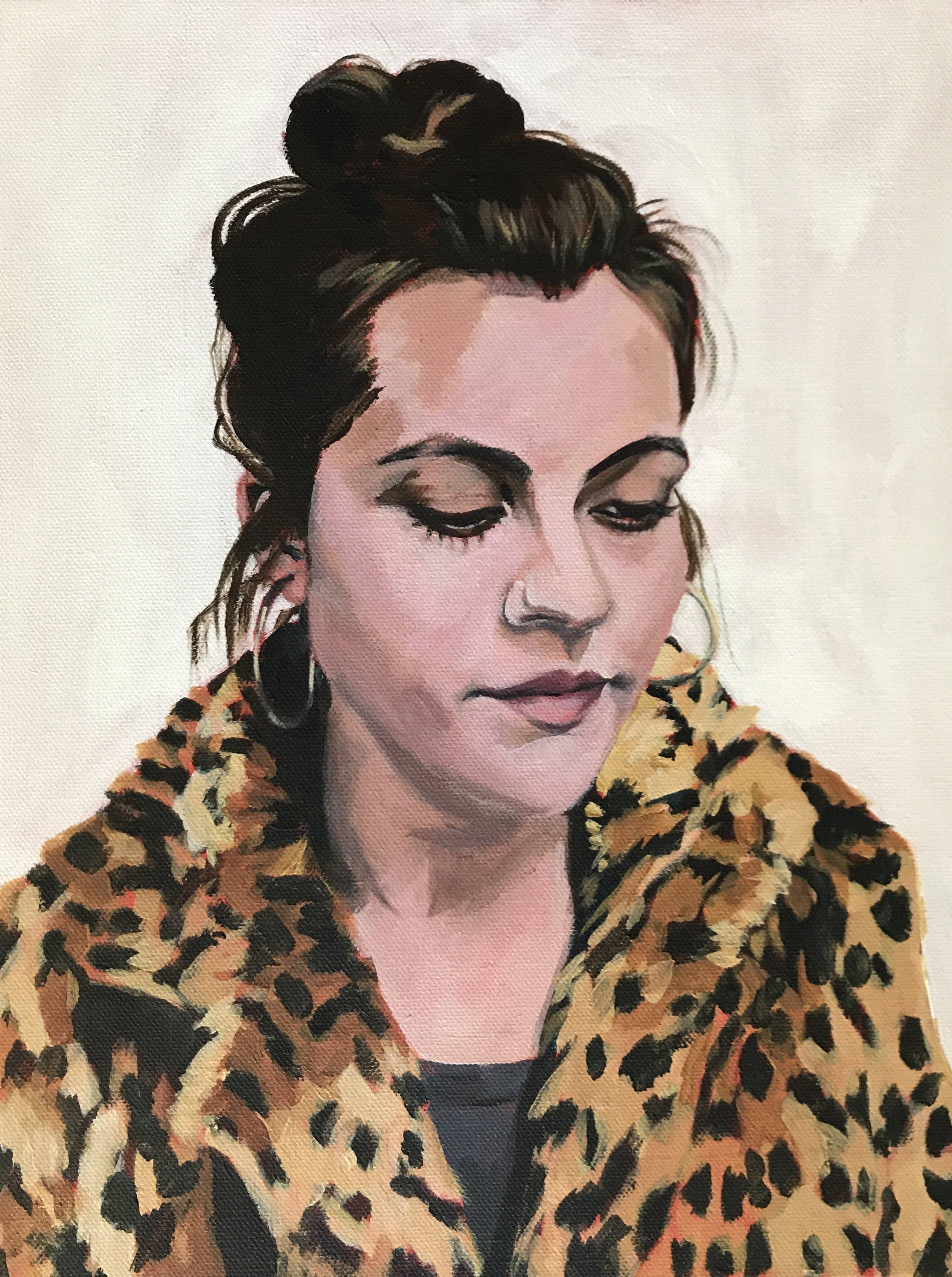 """Julia"" 11x14"" acrylic on canvas"