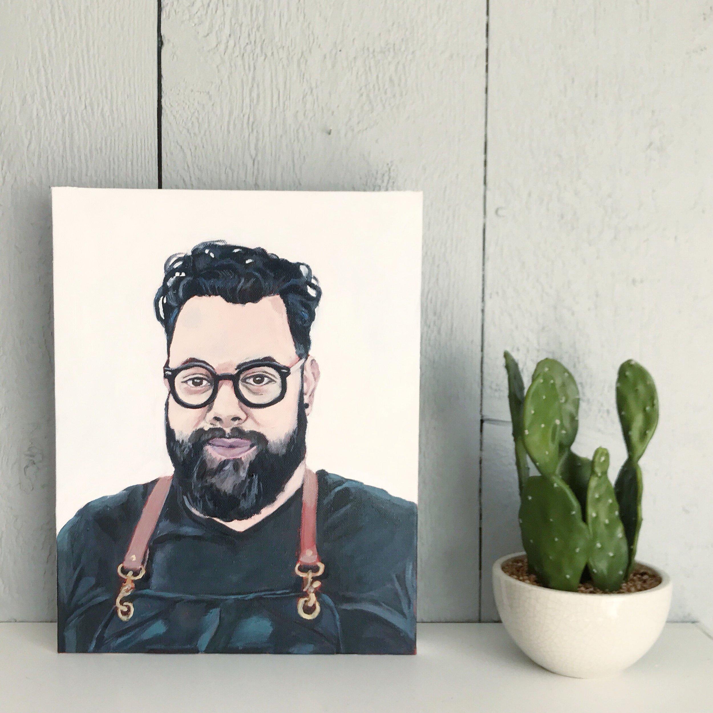 """Vijay"" 11x14"" acrylic on canvas"