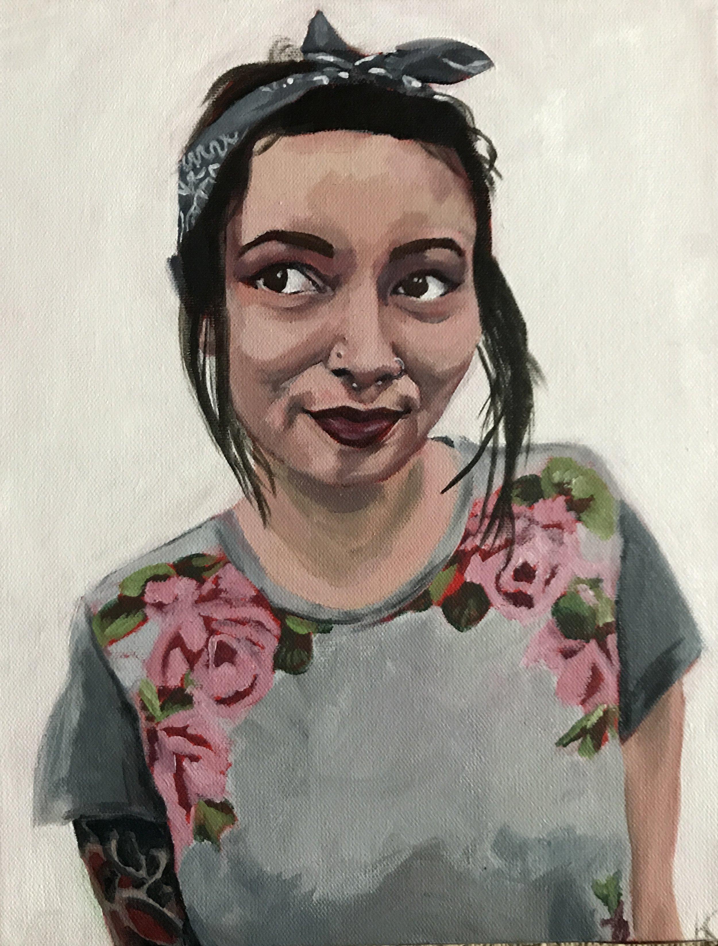 """""""Sara"""" 11x14"""" acrylic on canvas"""