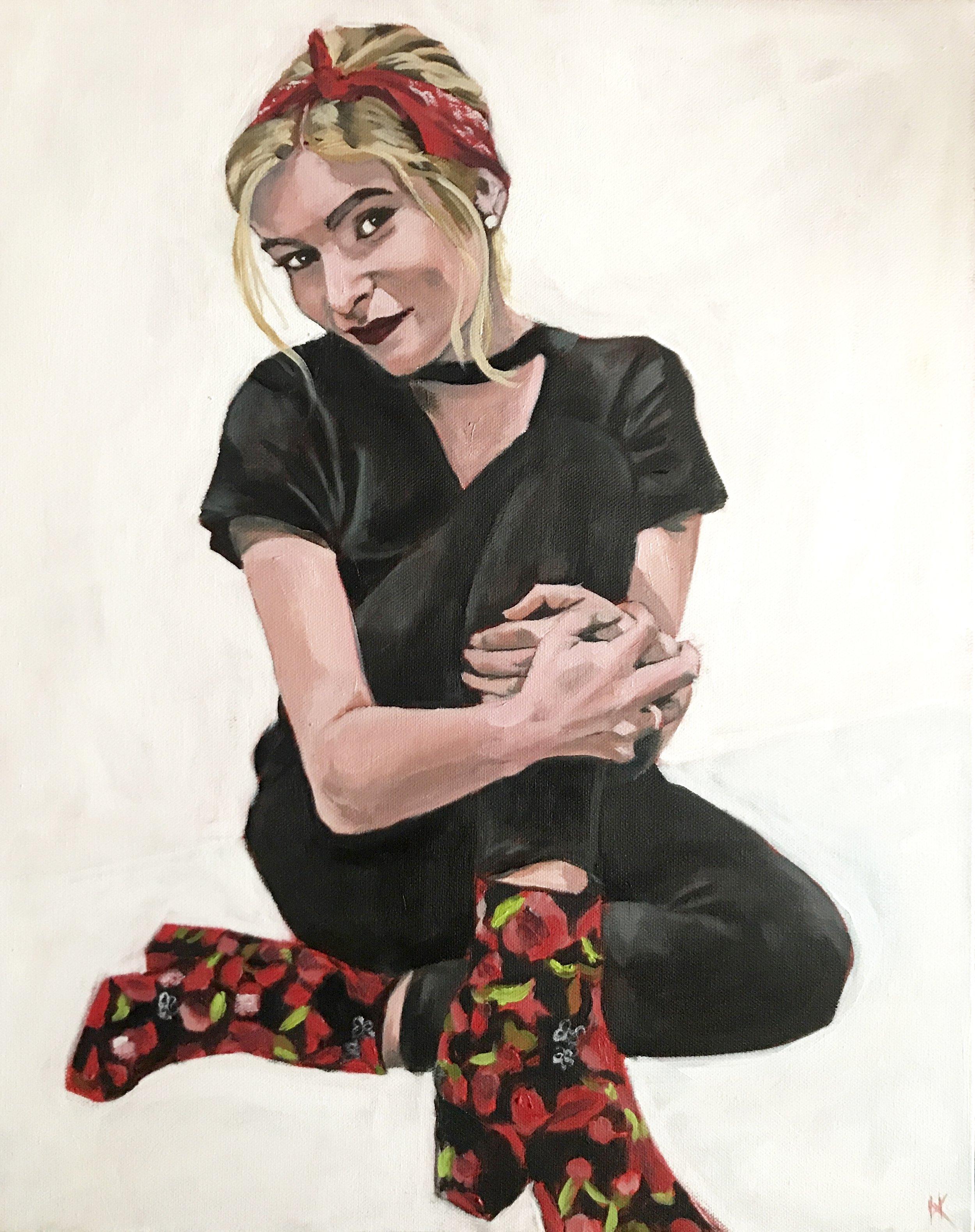 """""""Aly"""" 16x20"""" acrylic on canvas"""