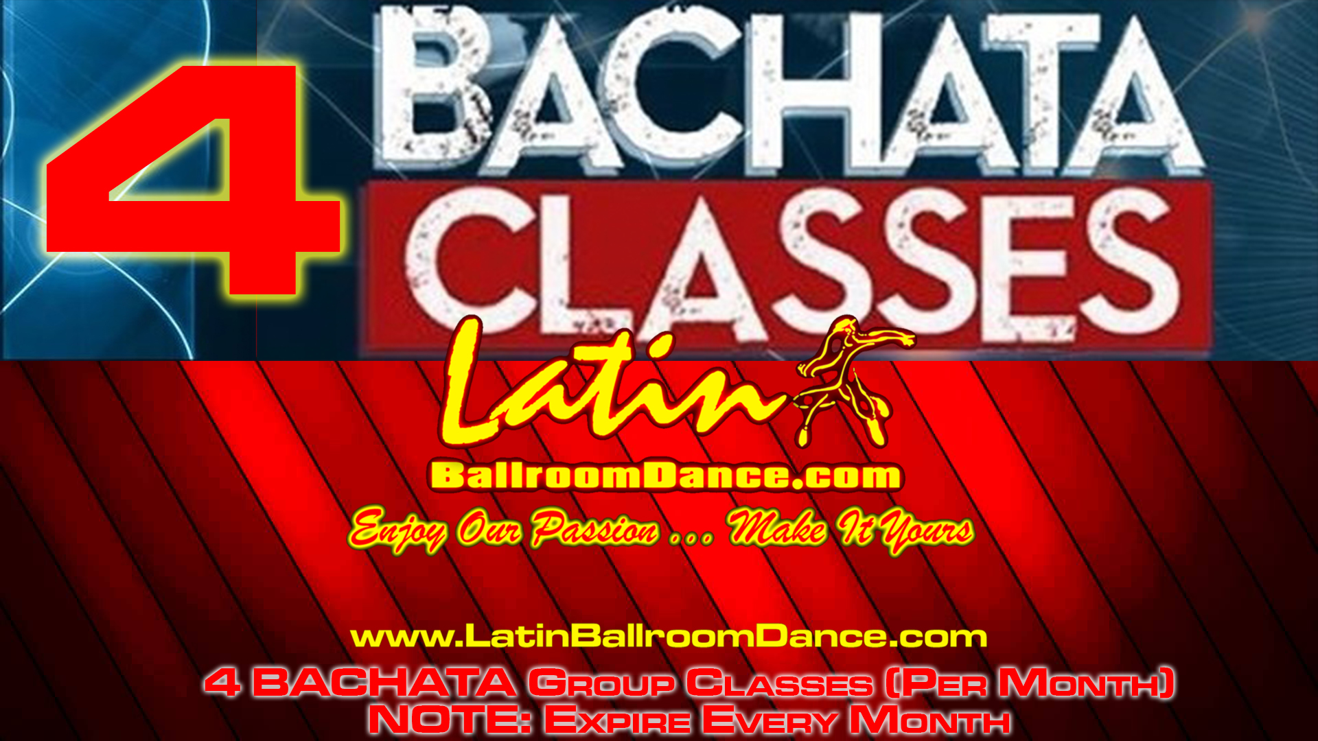 4 CLASSES FOR JUST $60